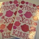 Sandylion HUGS XOX KISSES Scrapbook Stickers