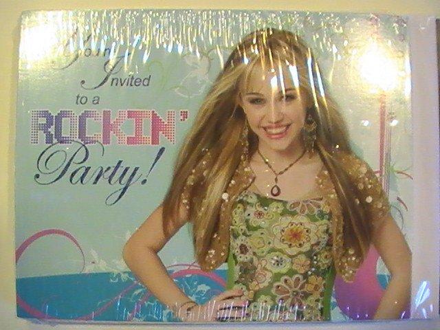 Hallmark Hannah Montana Party Invitation Cards