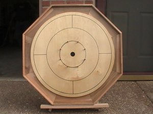 Custom Made Maple Crokinole Family Board Game #140