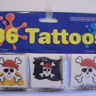 Birthday Party Skull Pirate Tattoos (36 Tattoos)