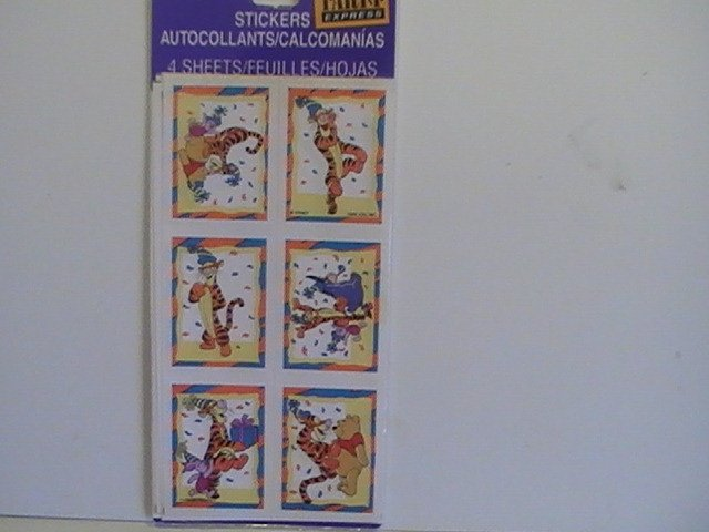 Party Express Pooh Craft Scrapbook Stickers