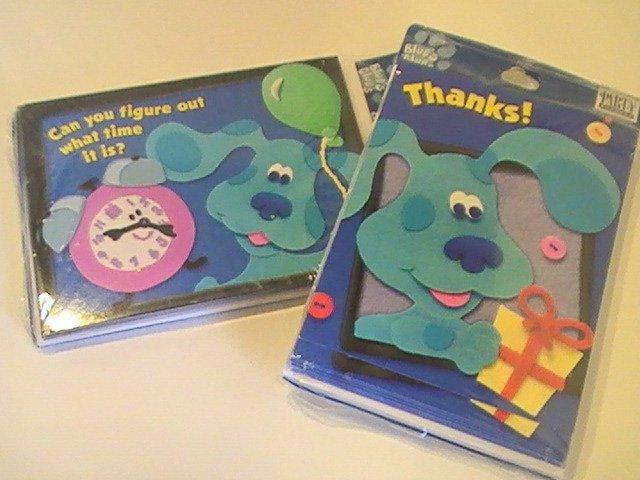 Hallmark Blue's Clue's Birthday Invitations/Thank You's