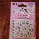 3D Design Hello Kitty Professional Finger Nail Sticker