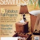Sewing Savvy September 2007 Magazine