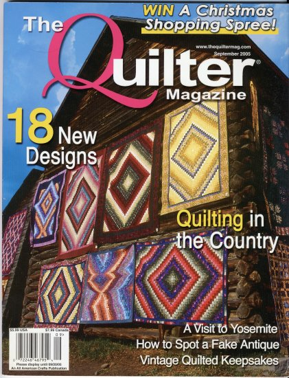 circa 2005 September The Quilter Magazine with Pattern Templates Pull-Out Quilting