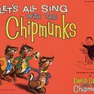 Vintage 50s Piano Music Let's All Sing With The Chipmunks Song Folio Sheet