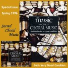 BBC Music 1996 Sacred Choral Music Issue & CD Dufay Palestrina Feminism Oratorio 12th Century Abbess