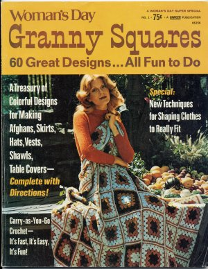 Vintage 70s Woman's Day Granny Squares Issue No. 1 Crochet Magazine