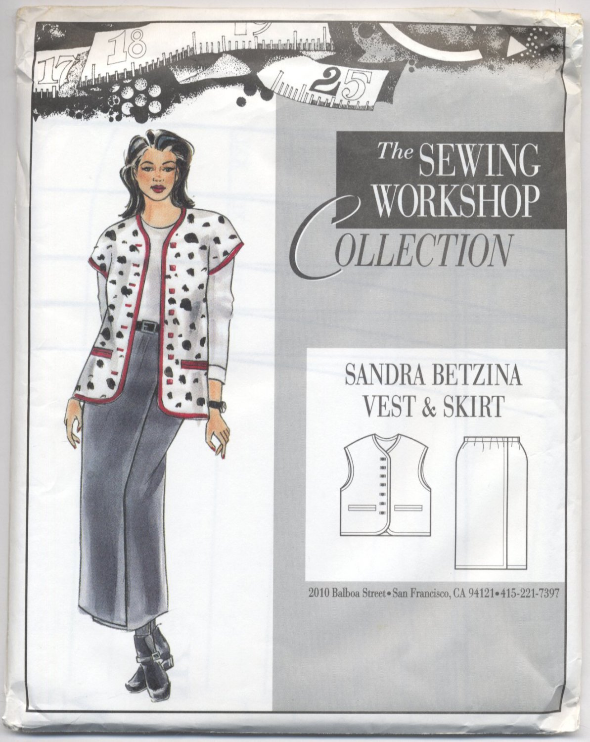 The Sewing Workshop Lined Vest Skirt Sandra Betzina Sewing Pattern Misses' 8-22 Loose Fitting