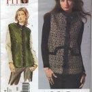 "Vogue 2914 Vest Sandra Betzina Sewing Pattern Misses' OSZ: A-J Bust 32""-55"" Faux Fur Quilted"
