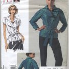 "Vogue 1017 Blouse Sandra Betzina Sewing Pattern Misses' OSZ: A-J Bust 32""-55"" Office Back Vent"