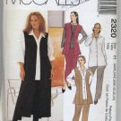 McCall's 2320 Vest Shirt Pants Skirt Sewing Pattern Women's 22W 24W 26W Office Professional Basics