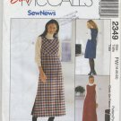 McCall's 2349 Jumper in Two Lengths SewNews Easy Sewing Pattern Misses' 18 20 22 Office Basics