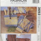 McCall's 3693 Fashion Accessories Sewing Pattern Duffel Bags Make-up Case Tote Bag Eyeglass Case
