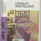 McCall's 3864 Patchwork Bed Coverlet, Sham & Pillows Set Sewing Pattern Twin Double Vintage 70s