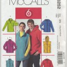 "McCall's 5252 Unlined Vests & Jackets Sewing Pattern Unisex XL XXL XXXL Chest 46""-56"""
