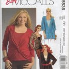 McCall's 5536 Tunics and Top Easy Sewing Pattern for Stretch Knits Women's 18W 20W 22W 24W