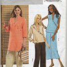 Butterick 4814 Top Tunic Pants Sewing Pattern Misses' 16 18 20 22 Asymmetrical Asian Casual Chic