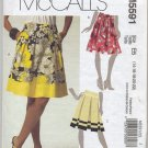 McCall's 5485 Skirts & Sash Sewing Pattern Misses' 14 16 18 20 22 Pleats Yoked Waist Front Pockets