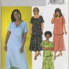 Butterick 4143 Top & Skirt Sewing Pattern Women's 28W 30W 32W Shaped Hem - Scoop or Draped Neckline