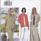 Butterick 3532 Jacket Vest Top Skirt Pants Sewing Pattern Misses' 20 22 24 Summer Casual Sportswear