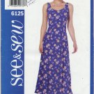See & Sew 6125 Dress - Very Easy Sewing Pattern Misses' 20 22 24 All Occasion Summer Wardrobe Staple