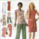 Simplicity 4190 Dress Tunic Belt Pants Bag Sewing Pattern Women's 20W 22W 24W 26W 28W Karen Z Design