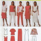 Simplicity 4992 Shirt, Knit Tank Dress or Top Skirt Pants Sewing Pattern Women's 20W 22W 24W 26W 28W
