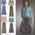 Simplicity 4095 Pants Skirt & Knit Tops - Sewing Pattern Women's 20W 22W 24W 26W 28W Easy Basics