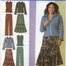 Simplicity 4375 Skirt Pants Jacket Vest - Khaliah Ali Sewing Pattern Women's 20W-28W Stylish Winter