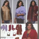 Simplicity 4051 Jackets Vest Bag - Khaliah Ali Sewing Pattern Women's 26W-32W Wrap Up In Cozy