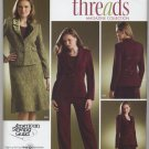 Simplicity 3962 B C D-Cup Lined Jacket Skirt Pants - threads Sewing Pattern 20W 22W 24W 26W 28W