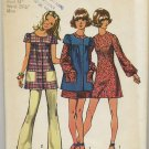 "Simplicity 9834 Mini-Dress, Smock & Pants - Sewing Pattern Miss Size 12 Bust 34"" Classic 70s"