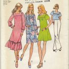 "Simplicity 6846 Dress in Three Lengths or Top - Easy Sewing Pattern Miss Size 12 Bust 34"" Retro 70s"