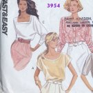 Butterick 3954 (Cut) Misses' Tops - Very Easy Sewing Pattern - Misses' Sizes 6 8 10