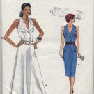 Vogue 9863 Dress - (Cut) Very Easy Sewing Pattern - Misses' 12-14 - Alternate 1980s Look