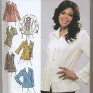 Simplicity 3990 Shirts B C D-Cup - Khaliah Ali Sewing Pattern Women's 26W 28W 30W 32W