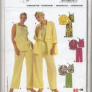 Burda 8107 Blouse, Pants & Jacket Easy Sewing Pattern Plus Size 18 20 22 24 26 28 30