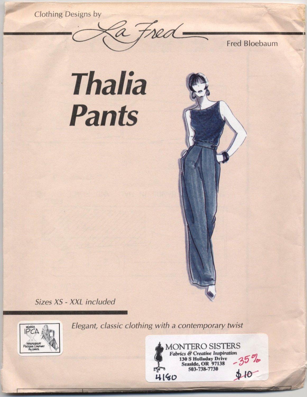 La Fred 102 Thalia Pants Sewing Pattern - Misses' 4-26 - Loose-fitting Pull-on Full-legged