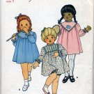 Butterick 3502 Girl's Dress Panties CUT Sewing Pattern Toddler Size 1 Circa 1970s - 1980s