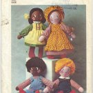Simplicity 7247 Stuffed Girl / Boy Dolls & Clothes (CUT) Sewing Pattern One Size -  1970s