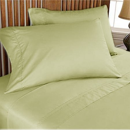 NEW 1000TC 4PCs BED SHEET SET QUEEN SOLID SAGE 100% EGYPTIAN COTTON