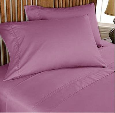NEW 1000TC 4PCs BED SHEET SET QUEEN SOLID LAVENDER 100% EGYPTIAN COTTON