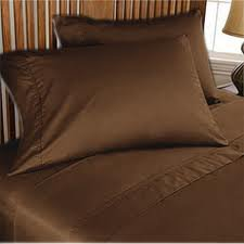 NEW 1000TC 4PCs BED SHEET SET QUEEN SOLID CHOCOLATE 100% EGYPTIAN COTTON