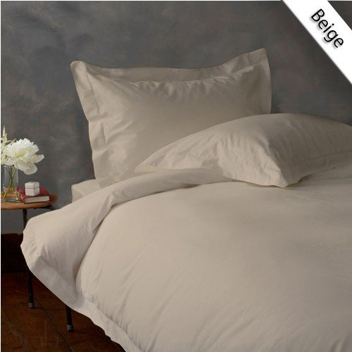600TC SOLID FULL/QUEEN 3PC BEIGE DUVET/DOONA/QUILT COVER SET 100% EGYPTIAN COTTON
