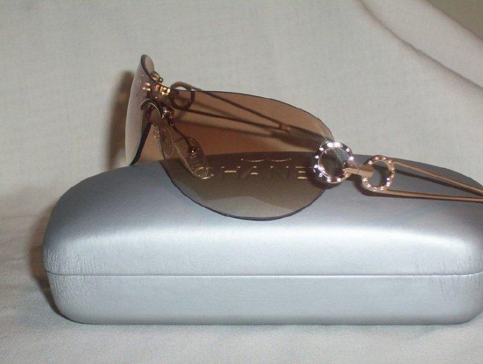 Chanel Dark Honey Frameless Sunglasses  with RHINESTONES - IM836 - 150mm