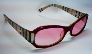 Pink lense Burberry plastic framed Sunglasses BY6957