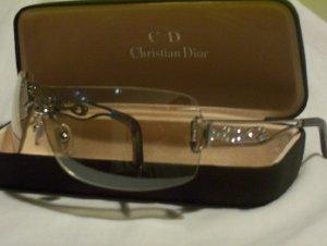 Silver Plastic Rimless Christian Dior with Diamantes -115