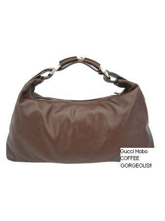 Gorgeous COFFEE Gucci Hobo FREE SHIPPING