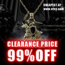 MENS JEWELLERY Unisex Antique Brass Pavise Warrior Pendant Necklace SALE (gold color)